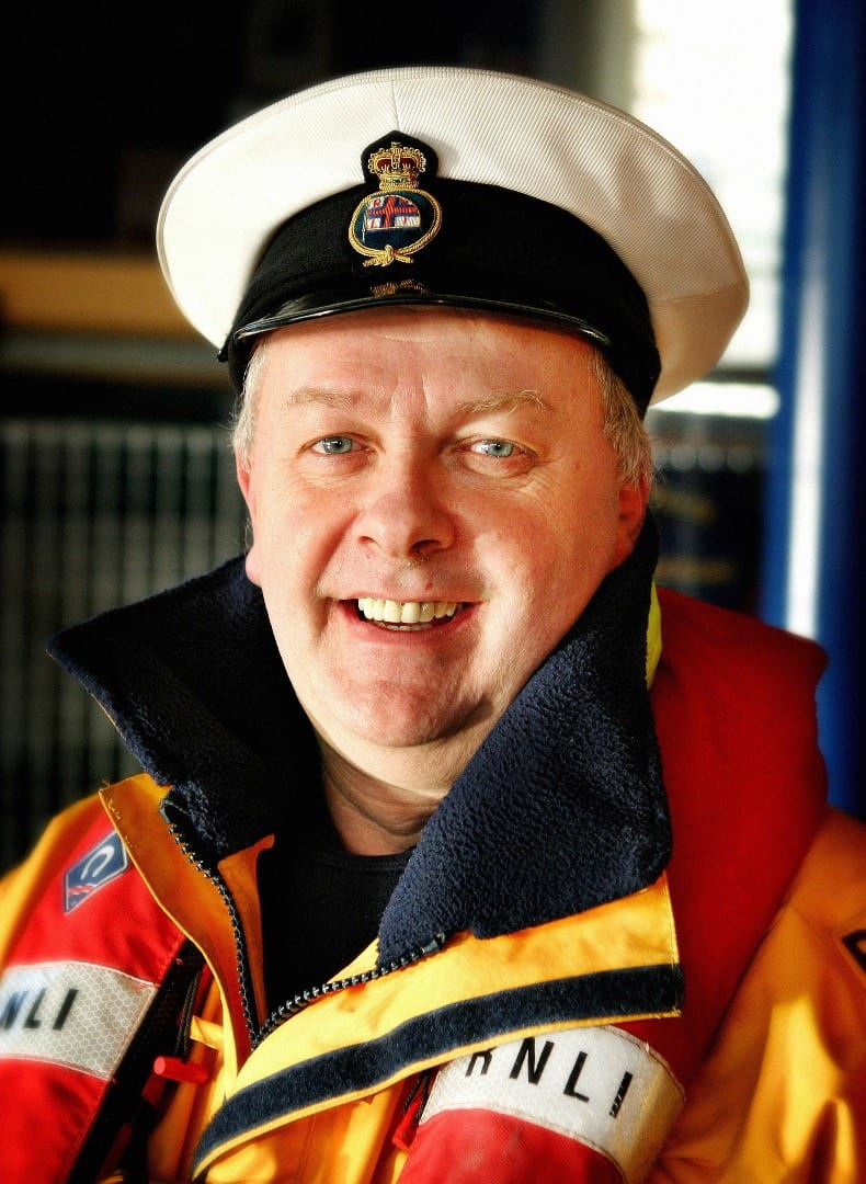 Coxswain Gary Bird (photo by Betram Greenhough)