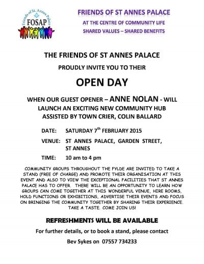 Friends of St Annes Palace Open Day