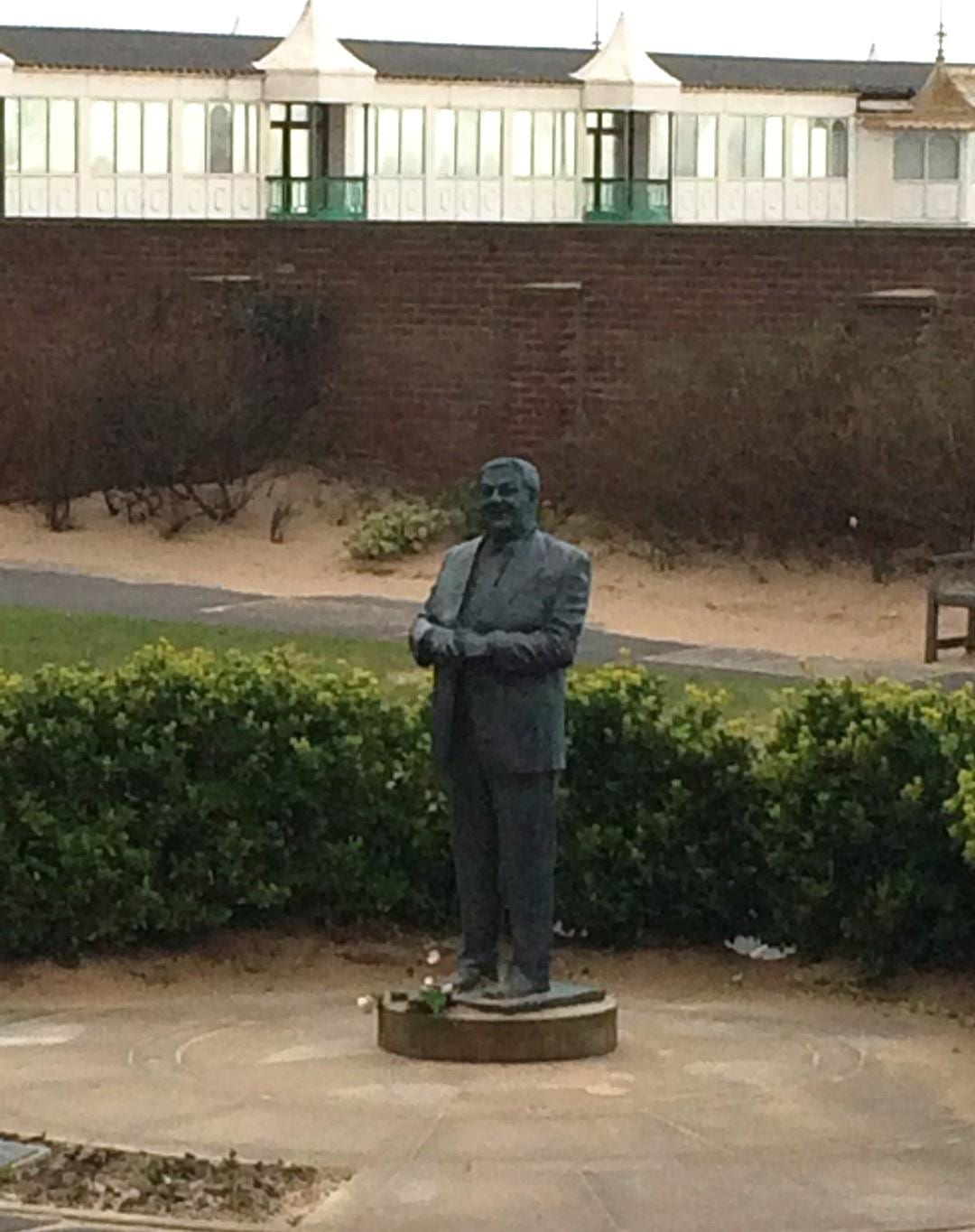 Les Dawson statue he's part of the history of St Annes