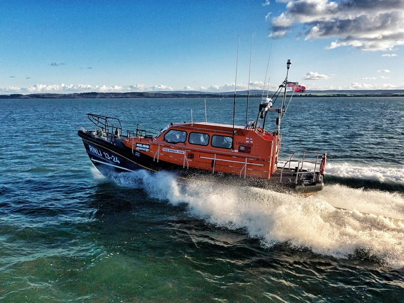 The Barbara Anne on sea trials (photo by RNLI / Steve Lowe)
