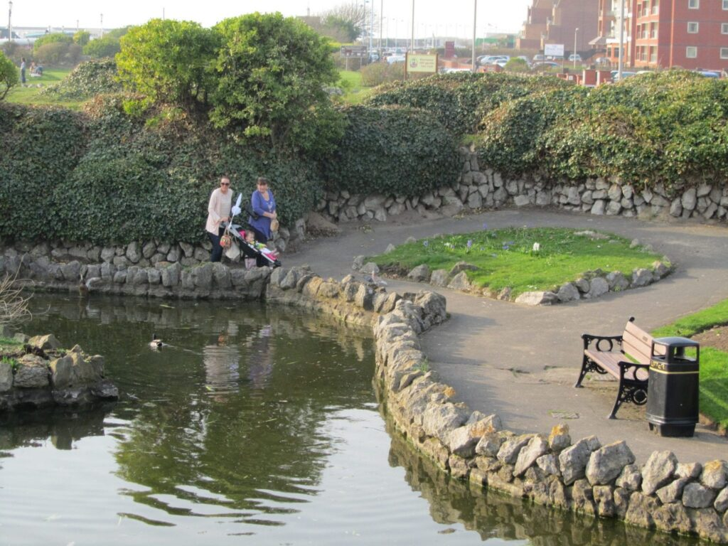 Ponds in the promenade gardens at St Annes