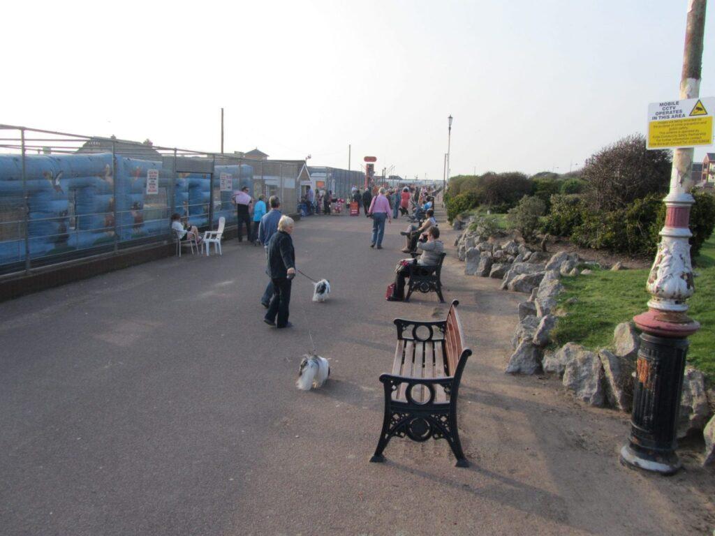 Rockery between beach and Promenade Gardens at St Annes