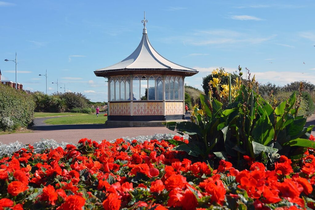 Seafront shelter in the Promenade Gardens at St Annes