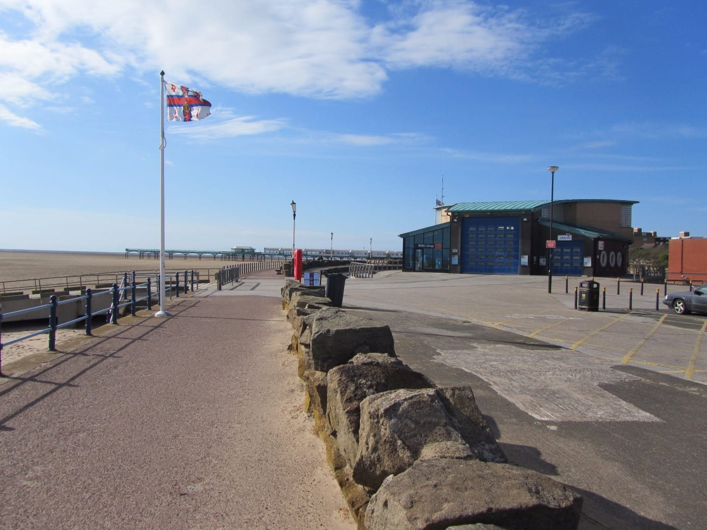 St Annes Promenade, island complex, RNLI and cafe, where Lytham St Annes Lifeboat Day is held