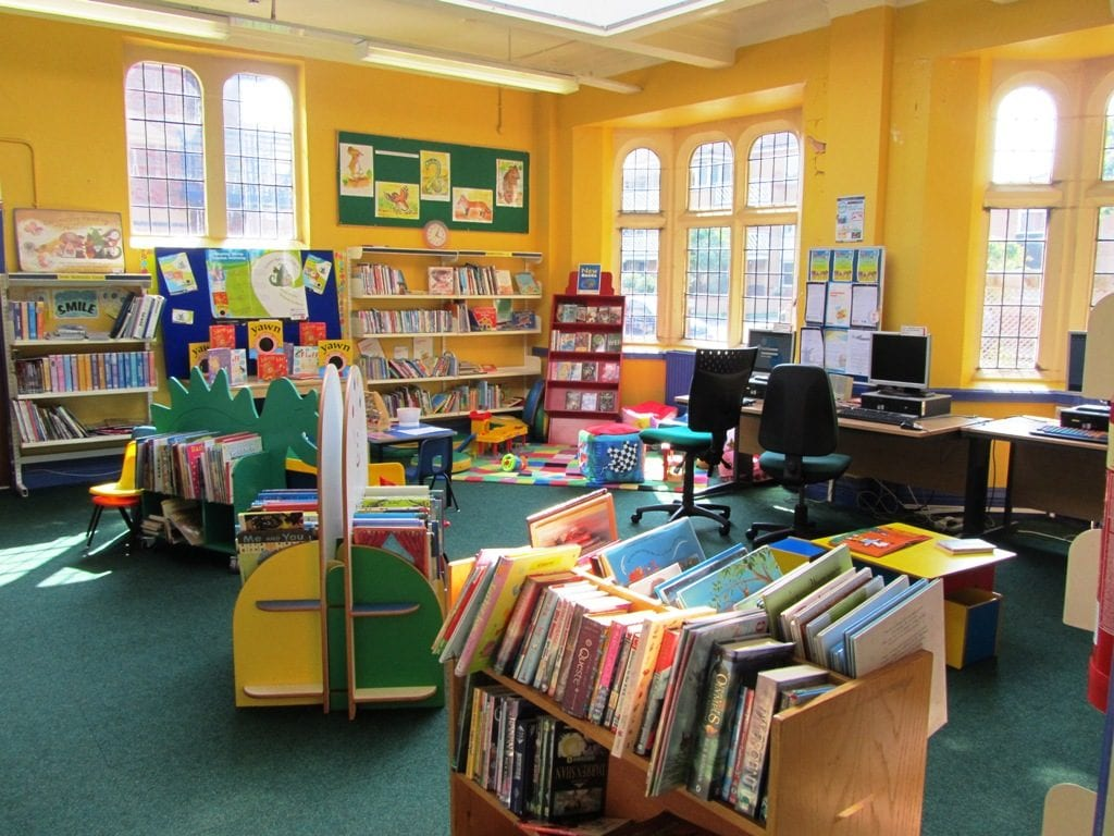 Inside the Junior library - history of St Annes Library
