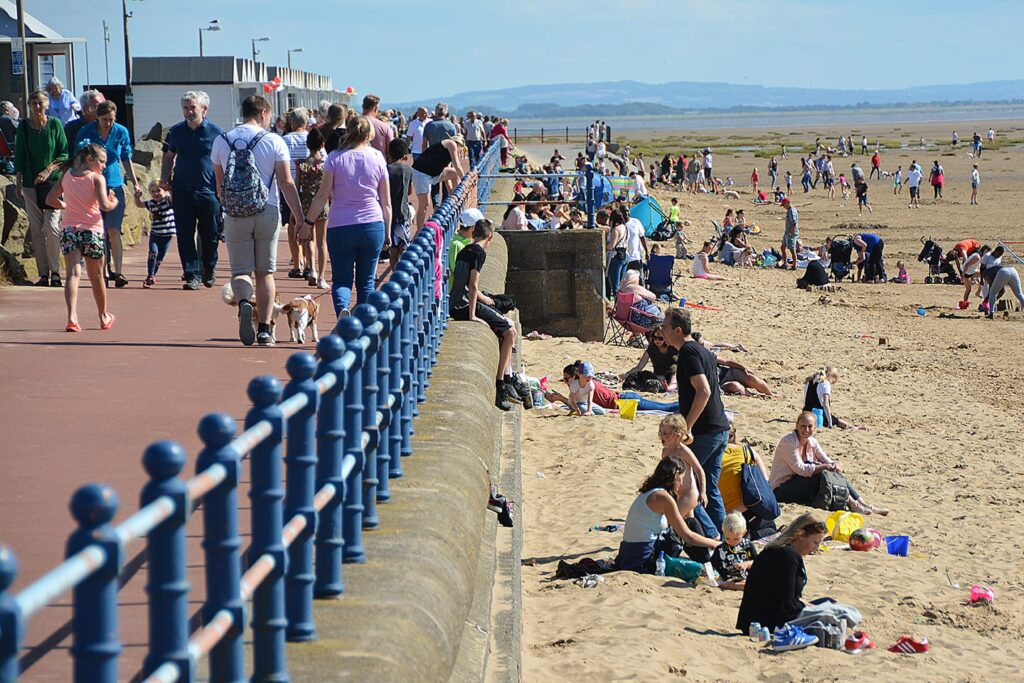 St Annes seafront and beach including the pier